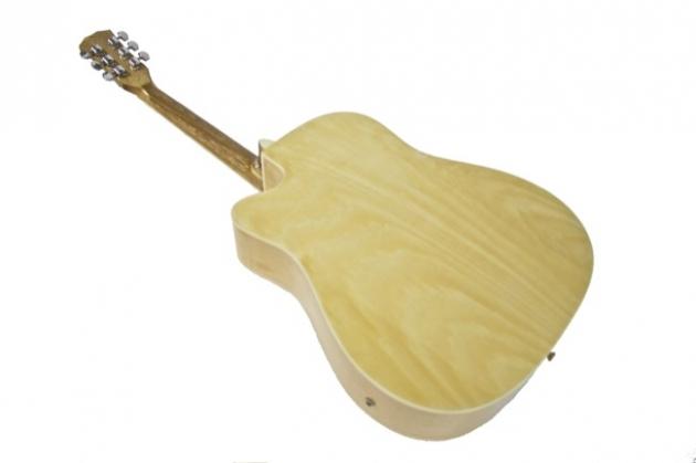 AGDM41CM-41吋民謠吉他缺角全原木+4EQ 定價4000 2