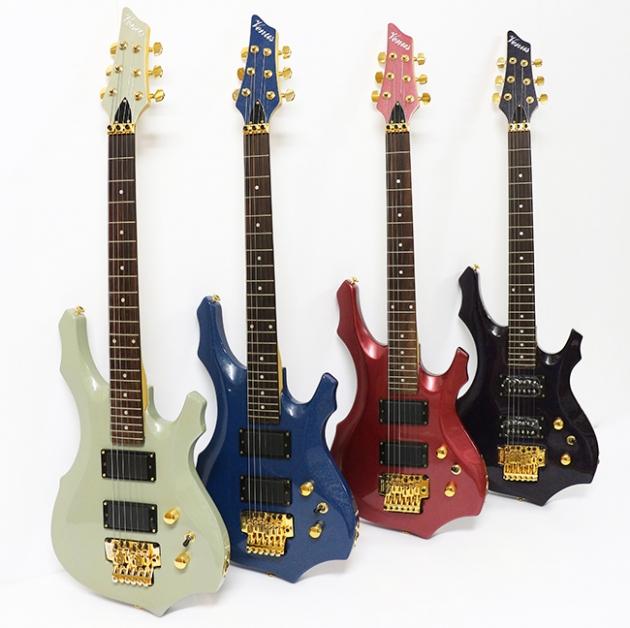 B3D 四麥克電吉他-多角型大搖座 1