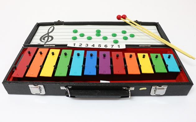 C96 彩色鐵琴12音(附盒)奧福C-G 1