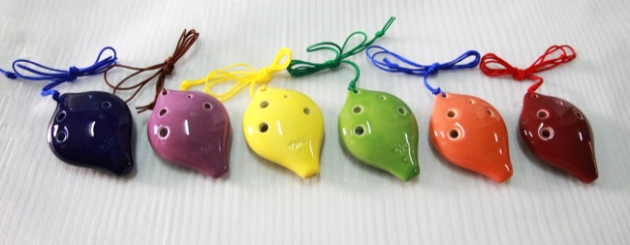 C128,C129,C130A - 陶笛6孔 C調 F調 (高音,中音) 陶瓷 1