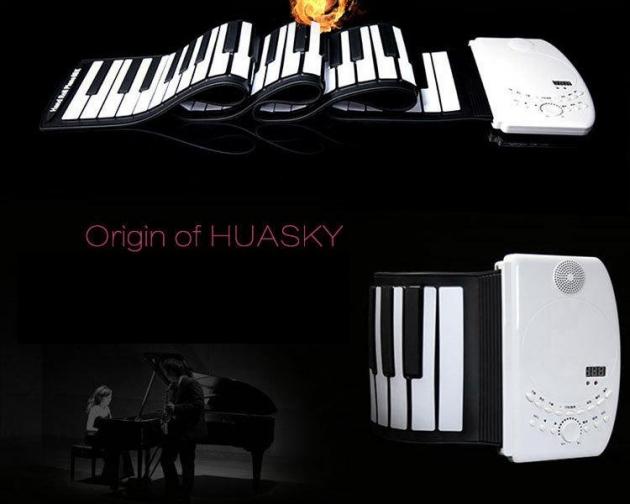 E41 HUASKY 88鍵手卷鋼琴(附耳機,延音踏板) 2