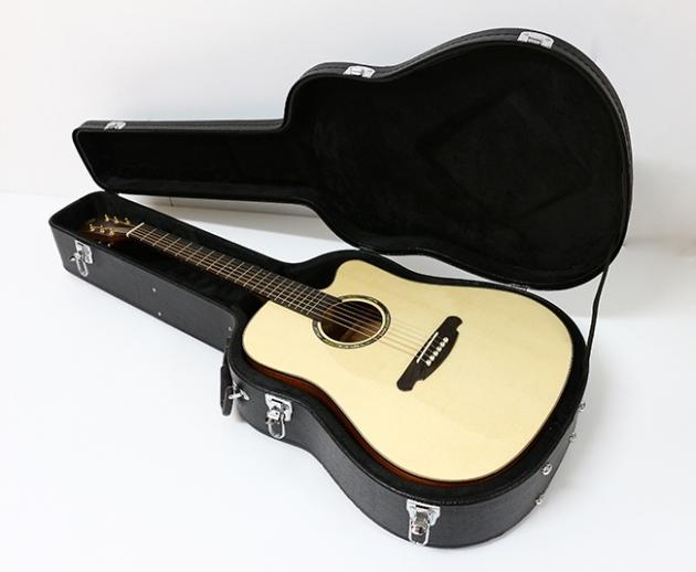 AGAK500 41吋全單板 西提卡雲杉,非洲桃花芯 民謠吉他(配送貼皮木盒) 6