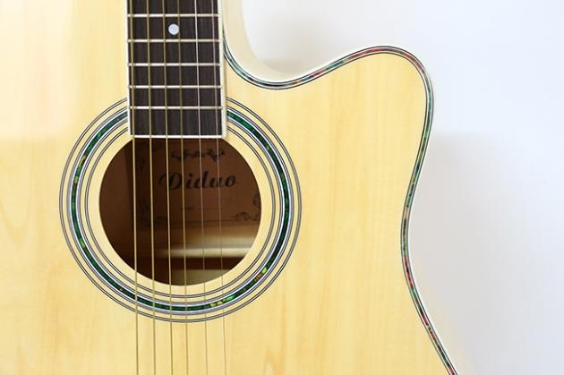 AGDM41CM-41吋民謠吉他缺角全原木+4EQ 定價4000 4