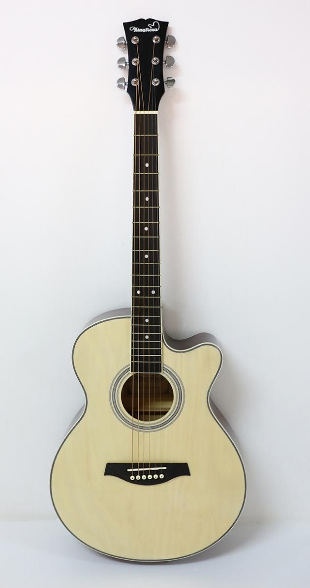 AG4113-39吋民謠吉他缺角-亮光 (原木色) 定價2600 2