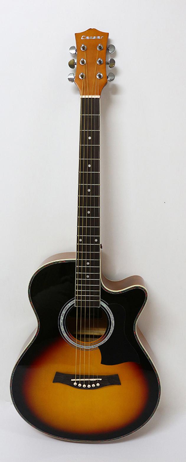 AGX401C-39吋民謠吉他缺角-亮光 (貝殼鑲邊/背中線) 原木色/黑色/雙色/藍色 定價3000 3
