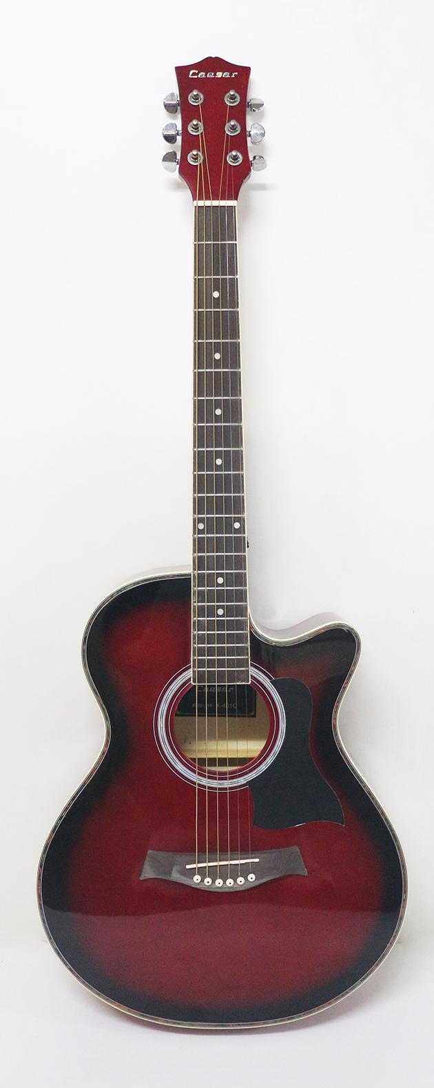 AGX401C-39吋民謠吉他缺角-亮光 (貝殼鑲邊/背中線) 原木色/黑色/雙色/藍色 定價3000 5