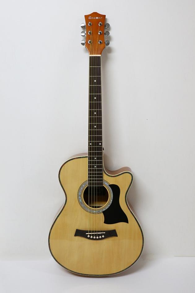 AGX401C-40吋民謠吉他缺角-亮光 (貝殼鑲邊/背中線) 原木色 / 雙色 定價3000 1