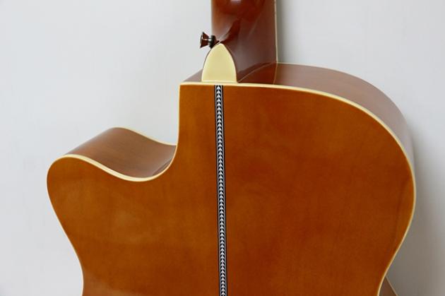 AGX401C-40吋民謠吉他缺角-亮光 (貝殼鑲邊/背中線) 原木色 / 雙色 定價3000 6