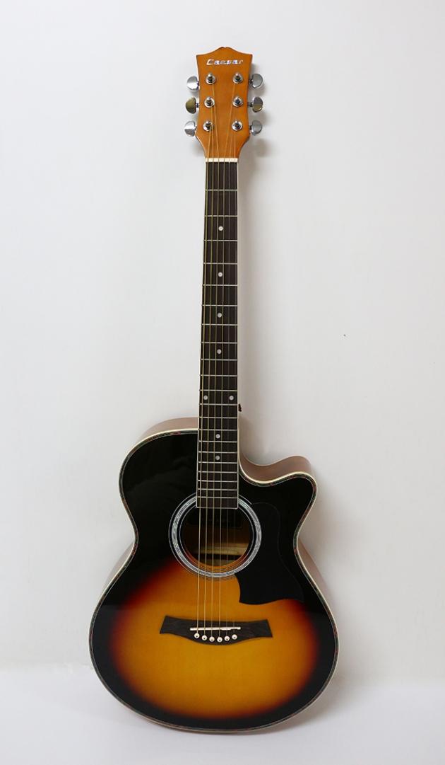 AGX401C-40吋民謠吉他缺角-亮光 (貝殼鑲邊/背中線) 原木色 / 雙色 定價3000 3