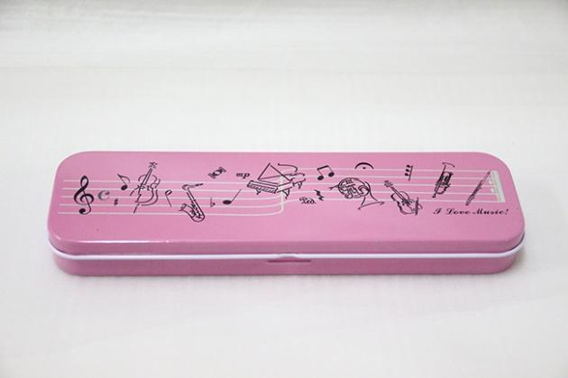 Y726 雙層鐵筆盒(黑.粉) 1